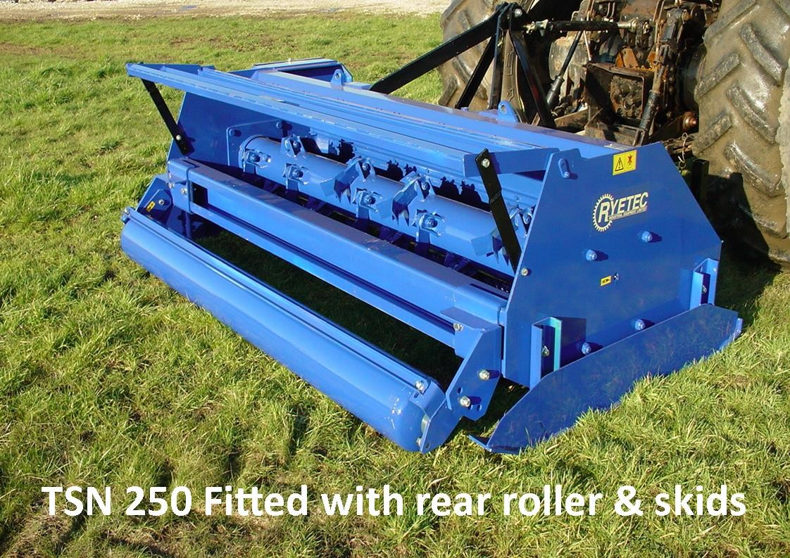 TSN 250 fitted with optional rear roller and heavy duty skids