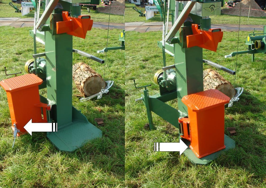 Ryetec Contractor vertical log splitter swing out splitting table
