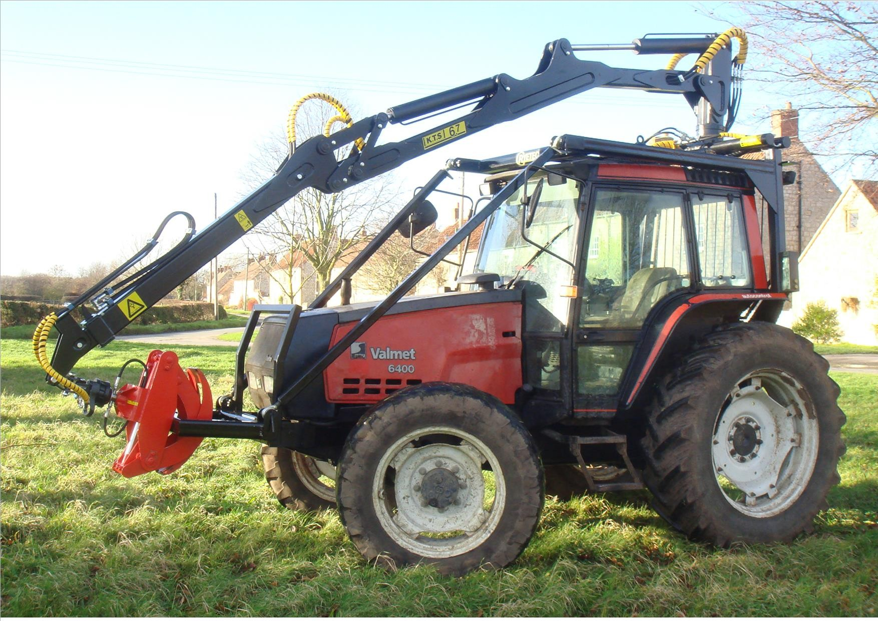 Ryetec KTS Tractor Roof Mounted Timber Forestry Firewood Crane Grapple