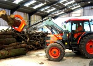 High capacity timber grab Klaw